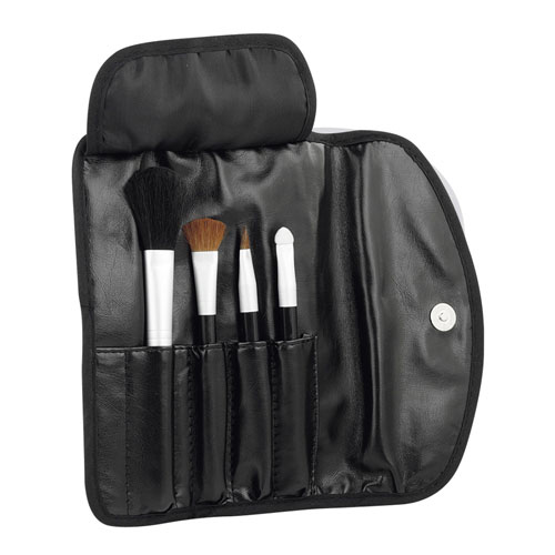 Set de brochas para maquillaje promocional black shadow , dam 870, set de brochas personalizado, set brochas camapa�a, set brochas impreso