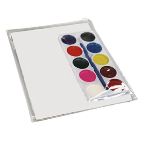 Set ecolor para colorear ES85001, set regalo dia del niño, set acuarelas personalizadas, seet acuarelas impresas