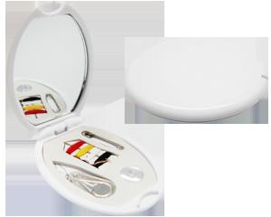 Costurero Oval promocional campaña, costurero con espejo para dama, costurero personal para regalo, costurero espejo economico campaña SF303